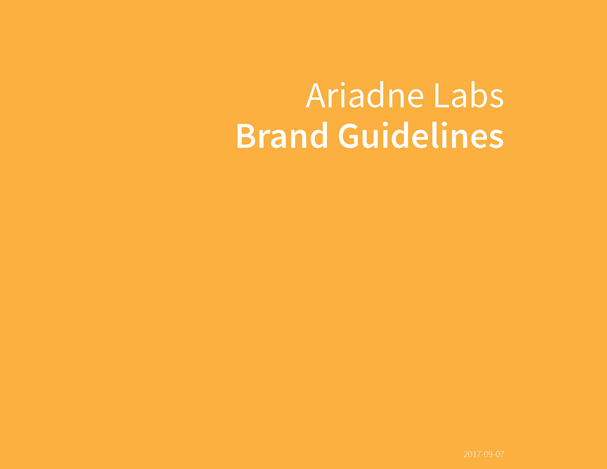 Ariadne Labs Brand Guidelines
