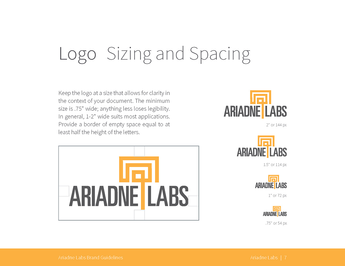 Logo: Sizing and Spacing guidelines