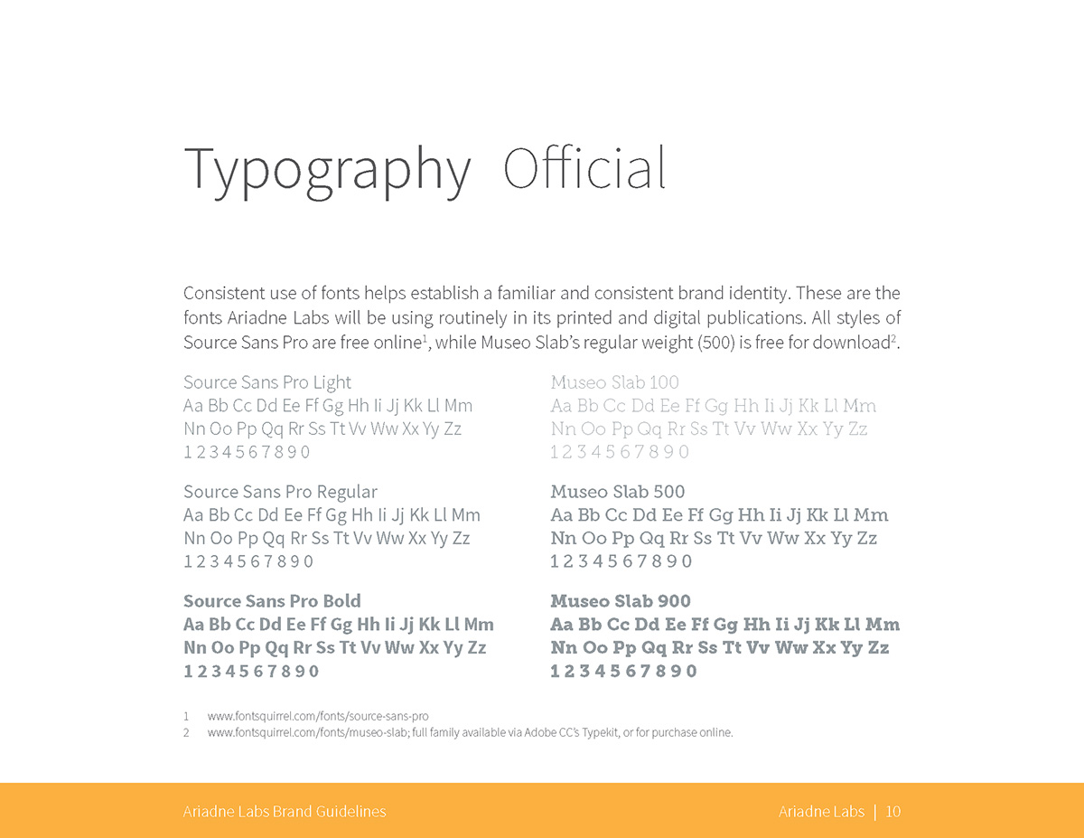Typography: Official fonts