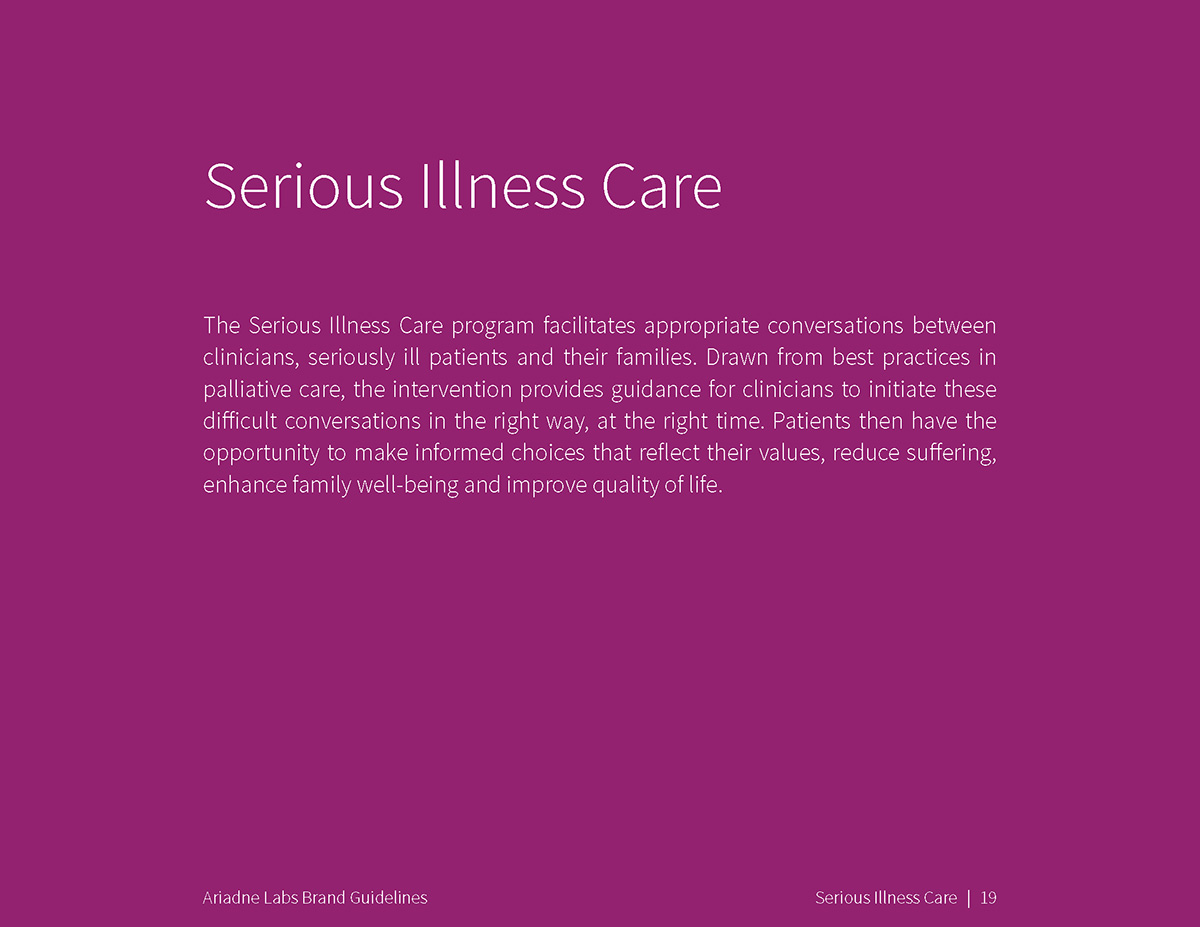 Serious Illness Care overview