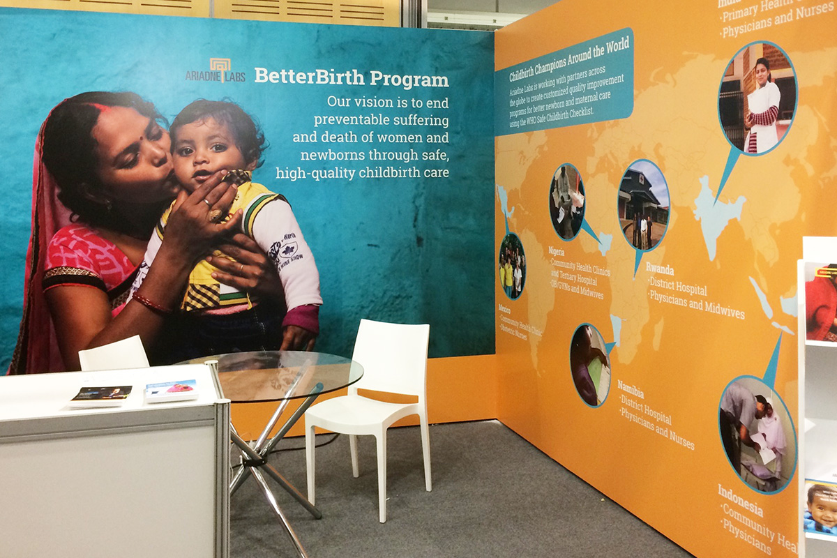 BetterBirth booth from RCOG World Congress 2017