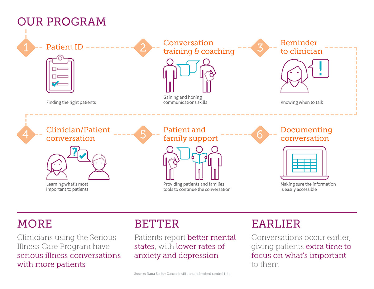 The Serious Illness Care Program's key points